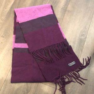 Burberry Purple Striped Wool/Cashmere Scarf